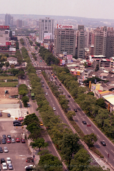 The main road of Taichung City.