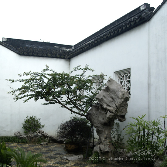 Wall and Interior of SUZHOU 蘇州庭園圍牆